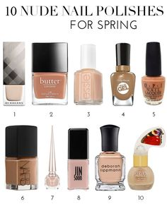 10 Nude Nail Polishes For Spring | theglitterguide.com