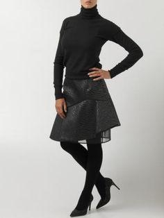 MSGM-gonna nera-black skirt-MSGM Autumn Winter 2014 2015 shop online