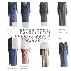 Buy your Ramadan clothing now! — Get 20% off your basket! — Shop for Ramadan and Eid now at immehabayas.com and also claim 20% off your basket by using code - BASKET20
