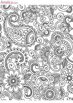 Раскраски антистресс скачать, распечатать бесплатно, узоры, орнаменты, цветы, картинки арт-терапия для раскрашивания взрослыми