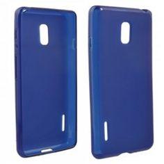 LG Optimus F7 Compatible Solid Color TPU Case - Blue - $6.95