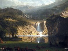 The Rocky Mountains, Lander's Peak, Albert Bierstadt 1863 | Flickr - Photo Sharing!