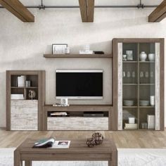 Salón Nature 13 Lcd Unit Design, Tv Unit Furniture Design, Modern Tv Wall Units, Living Room Tv Unit Designs, Muebles Living, Living Room Decor, House, Interiors, Home Decor