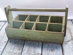 Rustic Wooden Art Caddy.Divided tool box by WhereTheRobinSings
