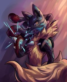 Charging an Aura Sphere by Zekrio on DeviantArt Pokemon Fan Art, Cool Pokemon, Pokemon Go, Pokemon Stuff, Mega Lucario, Lucario Pokemon, Pokemon Images, Pokemon Pictures, Best Pokemon Ever