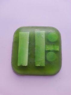 Jabón trozos verdes