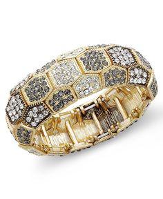 INC International Concepts Gold-Tone Glass Stone Bracelet