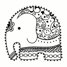 Line drawing mandala elephant stamp Doodle Drawings, Easy Drawings, Doodle Art, Embroidery Stitches, Embroidery Patterns, Hand Embroidery, Colouring Pages, Coloring Books, Mundo Hippie