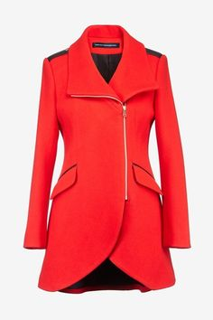 I discovered this Tulip Coat With Leather Trim - Jackets & Coats - French Connection Usa on Keep. View it now.