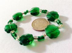 Children's bracelet green bracelet gift for by JeriAielloartstore