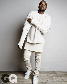 Kanye West in the adidas Stan Smith - GQ Magazine, August 2014 #kanyewest #adidasoriginals