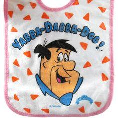 Flintstones Vintage 'Yabba Dabba Doo!' Terry Cloth Bib (1ct)