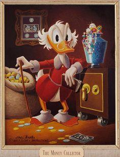 sfcartoonartmuseum: Uncle Scrooge by Carl Barks. Cartoon Books, Cartoon Characters, Comic Books, Disney Magic, Disney Art, Don Rosa, Dagobert Duck, Donald And Daisy Duck, Uncle Scrooge