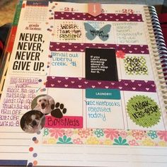 love how EC fan, Crissa Paul filled her weekly spread with inspiration! @indydogmama04 #eclifeplanner14