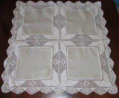Crochet Borders, Crochet Stitches Patterns, Lace Patterns, Filet Crochet, Stitch Patterns, Crochet Tablecloth, Crochet Doilies, Crochet Lace, Diy Crafts Crochet
