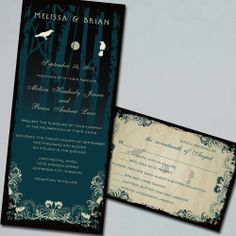 Gothic Wedding, Halloween Wedding Invitation Suite via Etsy.