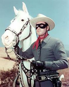 Clayton Moore The Lone Ranger and silver