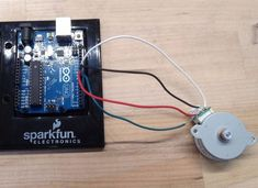 Learn about controlling a stepper motor with an Arduino http://www.instructables.com/id/Controlling-a-Stepper-Motor-with-an-Arduino https://www.coolcomponents.co.uk/arduino/original-boards