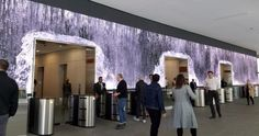 Indoor Digital Waterfall - Salesforce Lobby, San Francisco by Fusion CI Studios Creating A Portfolio, Lobby Interior, Video Wall, Digital Signage, Target Audience, Interactive Design, Shopping Mall, Multimedia, Target