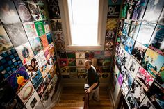 DJ Shame at his home in Worcester, MA ; Taken for Dust & Grooves, a vinyl photo site. (C) All Rights Reserved to Eilon Paz & Dust & Grooves. Dust & Grooves is a photo and interview project documenting vinyl collectors in their most intimate environment: their record room. www.dustandgroove... (C) All Rights Reserved to Eilon Paz & Dust & Grooves. Visit our Kickstarter at: kck.st/PkKM4V #vinyl #photography #collector #records #music #vintage #dustandgrooves