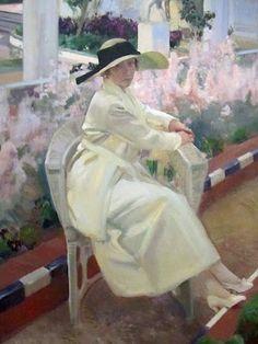Sorolla Clotilde en el jardín, 1919-20