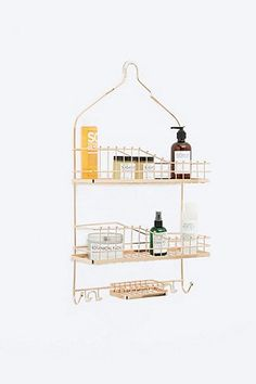 Hanging Shower Caddy in Rose Gold - Urban Outfitters