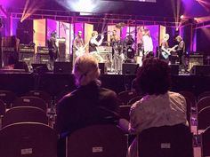 PHOTO: Jimmy Page and Joe Perry watching Jeff Beck at the Classic Rock Awards soundcheck earlier today in Tokyo(November 11, 2016)