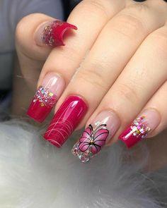 Aqua Nails, Aycrlic Nails, Dope Nails, Pretty Nail Art, Beautiful Nail Art, Gorgeous Nails, Cute Acrylic Nail Designs, Nail Art Designs, Gel Acrylic Nails