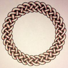 A celtic braid knot pattern. Pyro.