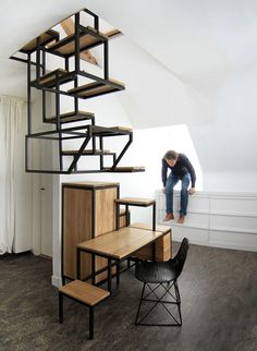Object élevé - suspended staircase by Mieke Meijer | The Hague, Netherlands