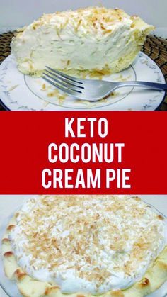 Keto Coconut Cream Pie Recipe Love this post?Oh my goodness! If you are a coconut lover you will LOVE this keto coconut cream pie recipe. Ketogenic Recipes, Low Carb Recipes, Diet Recipes, Dessert Recipes, Ketogenic Diet, Breakfast Recipes, Keto Desert Recipes, Cookbook Recipes, Recipes Dinner