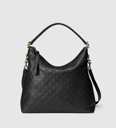 Gucci Miss GG Small Guccissima Leather Hobo Bag, Black Hobo Purses, Hobo Handbags, Gucci Handbags, Purses And Bags, Designer Handbags, Designer Bags, Fashion Handbags, Gucci G, Gucci Hobo Bag