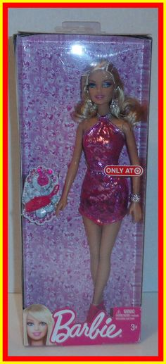 2012 FASHION -  BARBIE - TARGET EXCLUSIVE - IN PINK DRESS - #BBV65   #Mattel
