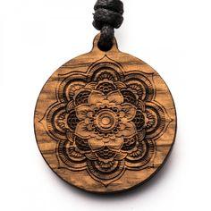 Mandala - 3in1_diy_schmuck Holzschmuck aus Naturholz / Anhänger Diy Jewelry Necklace