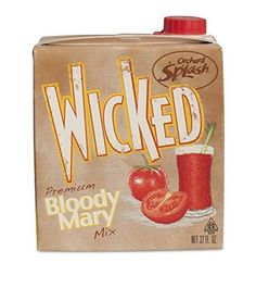 Orchard Splash Wicked Bloody Mary Mix (Case of Bloody Mary Mix, Flask, Barware, Have Fun, Wicked, Ships, Packaging, Drinks, Box