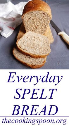 Everyday Spelt Bread Gluten-Free Everyday SandAn easy everyday low carbCheck out my delicious an Spelt Recipes, Healthy Bread Recipes, Baking Recipes, Alkaline Bread Recipe, Healthy Breads, Cornbread Recipes, Jiffy Cornbread, Alkaline Recipes, Alkaline Diet