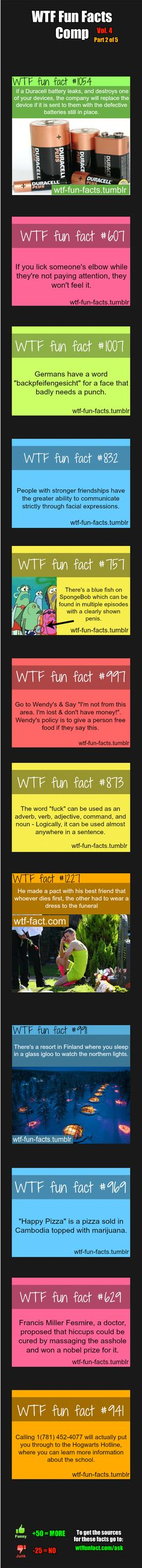 WTF Fun Facts Comp Vol. 4 Part 2