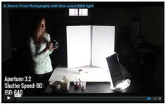 Artificial Lighting with Food Photography