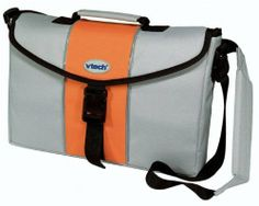 """Vtech Travel Bag by Vtech. $15.99. Now the smart kids and the cool kids are one in the same because your child can take their Vtech toys and notebooks anywhere with this great messenger bag! It can store your Vtech notebooks, pocket systems, V Smile games, and even many Vtech toys so you can take them on the go! Fits all Vtech Notebooks except the DeskPro. Bag measures 15.5"""" x 11.5"""" x 2.5""""."""