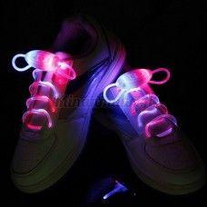 LED-kengännauhat, pinkki-sininen