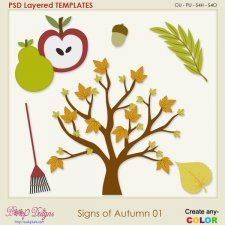Signs of Autumn 01 Layered Templates #CUdigitals cudigitals.comcu commercialdigitalscrapscrapbookgraphics #digiscrap