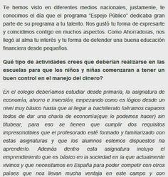 Entrevista para ahorradoras.com
