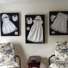 shadow boxes for baptism gown - Google Search