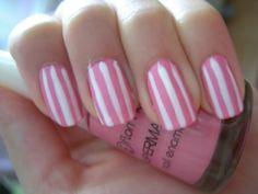 my sugar nails! Cute Nail Art, Cute Nails, Pretty Nails, Beautiful Nail Designs, Cute Nail Designs, Victoria Secret Nails, Manicure Diy, Sugar Nails, Striped Nails