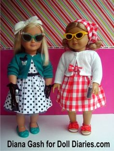 As we continue to look at other items introduced in the Our Generation Retro Collection, I just could not resist Ruby. The Our Generation Collection introduced two new dolls for the Retro Collecti… American Girl Books, American Girl Dress, American Girl Clothes, American Girls, Ag Doll Clothes, Doll Clothes Patterns, Clothing Patterns, Doll Patterns, Ag Dolls
