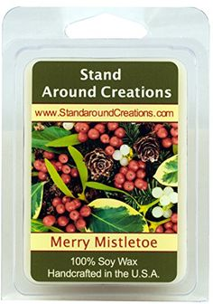 100 All Natural Soy Wax Melt Tart  Merry Mistletoe A blend of citrus blue spruce and frosted cranberries create this perfect holiday scent This fragrance is infused with Fir Peppermint and Cedar Leaf essential oils  3oz  Naturally Strong Scented -- Check this awesome product by going to the link at the image.