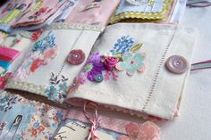 the beautiful creations of Vicky Trainor - wedding stationery and linen keepsakes