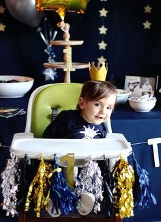 A Space Themed First Birthday Party