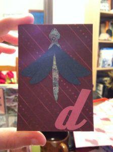 belle idée de carte fait main et fait maison par Allie 07 vie www.cartefaitmain.eu #carte #diy