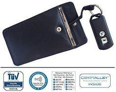 Amazon Pokrowiec na kluczyk samochodowy blokujący fale radiowe (RFID / NFC) z wysokiej jakości skóry i materiału Cryptalloy (osłona sprawdzona przez T - Ceneo.pl